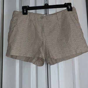 Crochet knit shorts